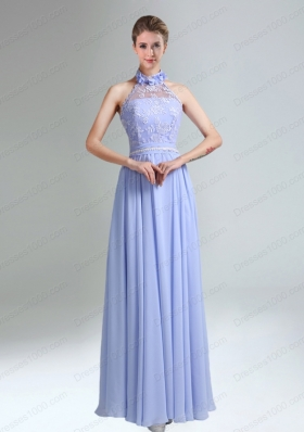 Belt and Lace Halter Empire Lace Up Mother of the Bride Dresses for 2015