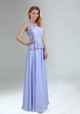 Lavender Belt and Lace Empire 2015 Mother of the Bride Dresses with Bateau
