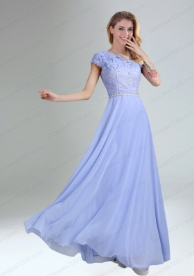 One Shoulder Belt Empire 2015 Appliques Mother of the Bride Dresses in Lavender