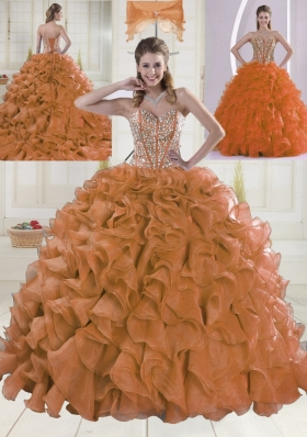 Fashionable Ball Gown Brush Train Quinceanera Dresses with Sweetheart