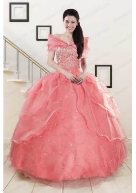 Elegant Beaded Ball Gown Sweetheart Quinceanera Dresses