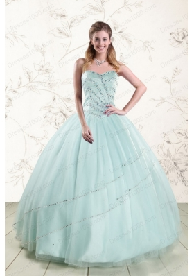 In Stock Exclusive Apple Green Quinceanera Dresses with Reinstones