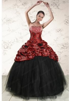 2015 Fashionable Ball Gown Leopard Quinceanera Dresses in Multi-color