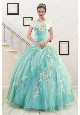 most popular Ball Gown Sweetheart Cheap  Quinceanera Gowns with Appliques