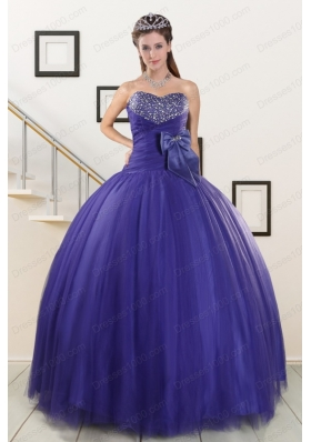 Most Popular Elegant Sweetheart Quinceanera Gowns with Bowknot