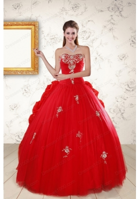 most popular Sweetheart  Quinceanera Gowns with Appliques