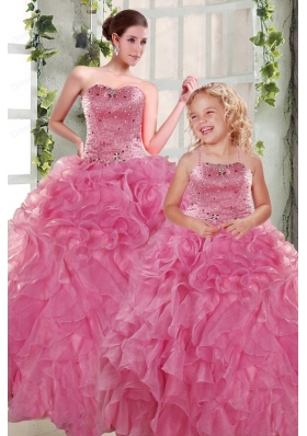Perfect Beading and Ruffles Ball Gown 2015 Princesita Dress