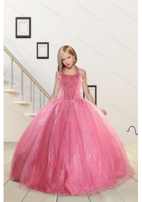 ff3e5d07ce9 Top Seller Beading and Sequins Baby Pink Flower Girl Dress for 2015 Spring