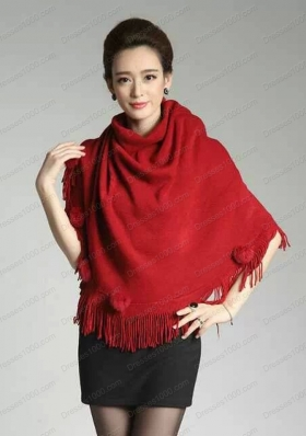 2015 Burgundy Knitted Fabric Wonderful Wraps