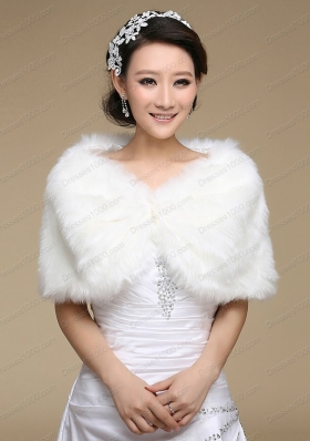 Exquisite Faux Fur White Wraps for 2015