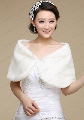 Formal Faux Fur White Wraps for 2015