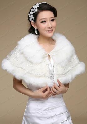 Most Popular Faux Fur 2015 Wraps with Lace