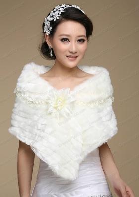 New Style Faux Fur White Wraps for 2015