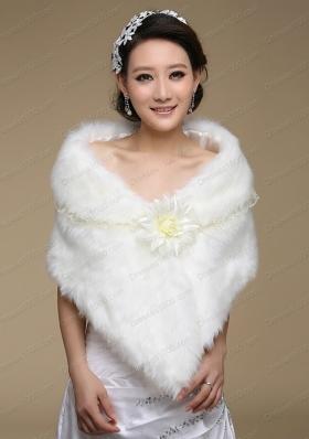 Unique White Faux Fur Wraps for 2015