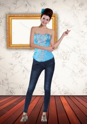 Elegant Multi Color  Strapless 2015 Corset with Beading