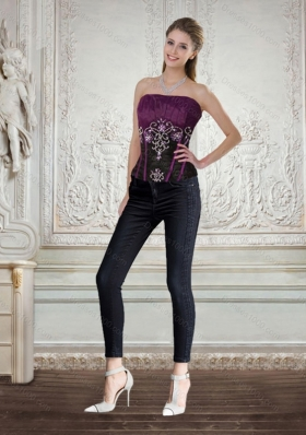 The Super Hot Strapless 2015 Corset with Embroidery