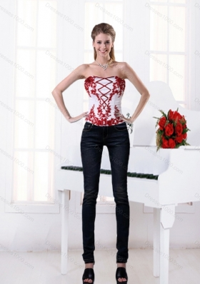 Gorgeous Strapless Multi Color Corset with Embroidery