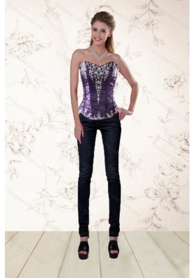 High Fashion Corset with Embroidery and Beading