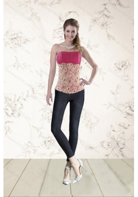 Perfect Beading Corset in Hot Pink for 2015