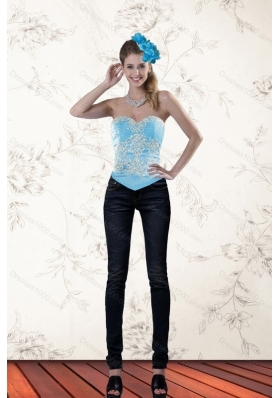 The Most Popular Ruffles Baby Blue Sweetheart Corset for 2015