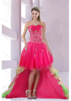 Beautiful Sweetheart High Low Prom Dress for 2015
