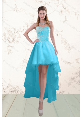 Discount Baby Blue Prom Gown with Beading and Ruffles