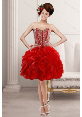 2015 Fashionable Sweetheart Prom with Beading and Ruffles