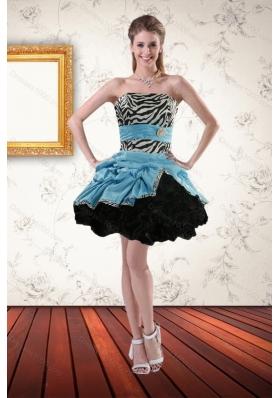 Short Zebra Prom Dresses