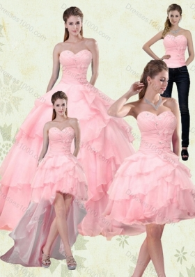 9855664c1f Detachable Sweetheart Beaded 2015 Quinceanera Dresses with Ruffled Layers