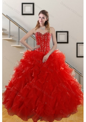 Affordable Red Quinceanera Dresses, Beautiful Red Quinceanera Dresses