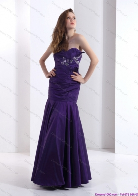 2015 Popular Prom Dresses with Beading and Ruching