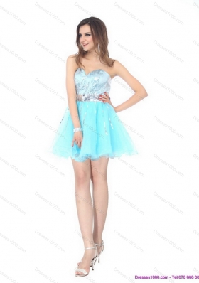2015 The Super Hot Sweetheart Light Blue Prom Dress with Sequins