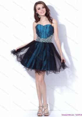Multi Color Sweetheart Sequined and Ruffled Prom Dresses for 2015