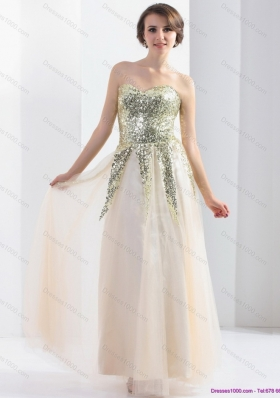 2015 Sweetheart Empire Prom Dress with Sequin