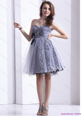 Short New Style Sweetheart Leopard 2015 Prom Dress with Beading