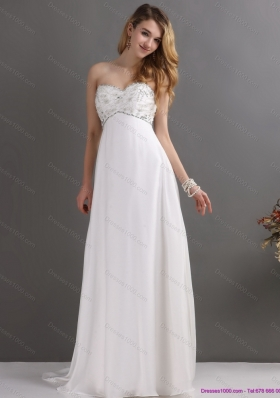 New Style Sweetheart Wedding Dress with Beading for 2015