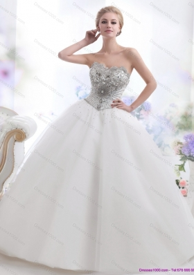 Perfect 2015 Beading and Appliques Wedding Dresses
