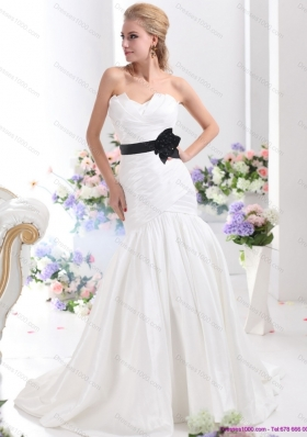 Perfect Sweetheart 2015 Wedding Dress with Ruching and Sash