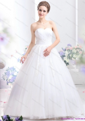 2015 New Style Sweetheart Wedding Dress with Lace