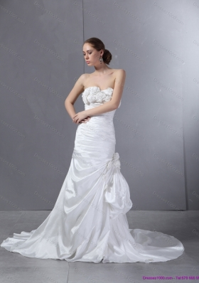 2015 Top Selling Sweetheart Wedding Dress with Court Train