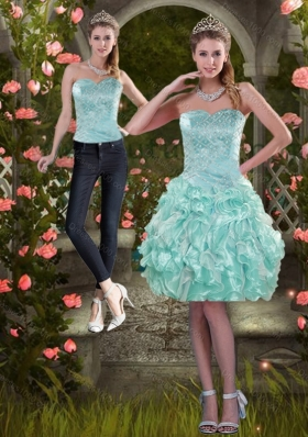 2015 Strapless Detachable Prom Skirts with Beading and Ruffles