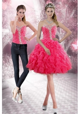 2015 Sweetheart Detachable Prom Skirts with Beading and Ruffles