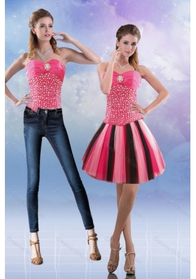 2015 Sweetheart Multi Color Detachable Prom Skirts with Beading