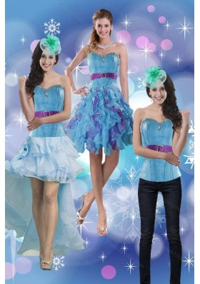 Sweetheart 2015 Multi Color Detachable Prom Skirts with Belt and Beading