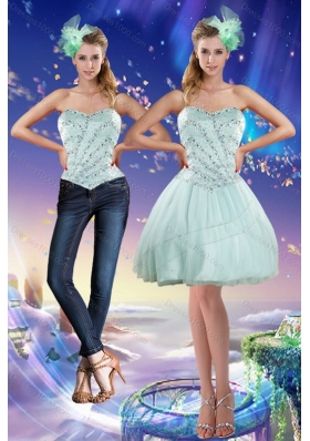 Sweetheart Beading 2015 Detachable Prom Skirts in Apple Green