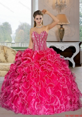 Elegant Sweetheart Ball Gown Quinceanera Dresses with Beading and Ruffles