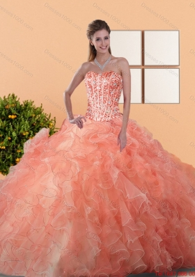 2015 Dynamic Quinceanera Dresses with Beading and Ruffles