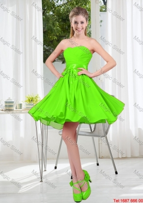 2016 Summer A Line Sweetheart Bridesmaid Dresses in Spring Green