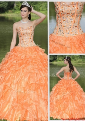 New Style Beading and Ruffles Layered Quinceanera Gowns