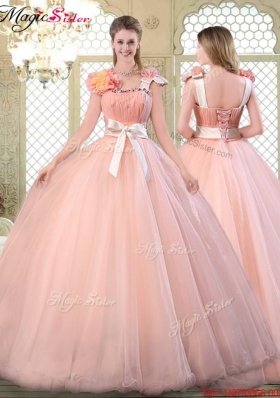 Beautiful Asymmetrical Discount Quinceanera Dresses with Bowknot